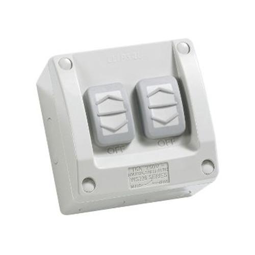 Double Weatherproof Switch 16Amp Ip66