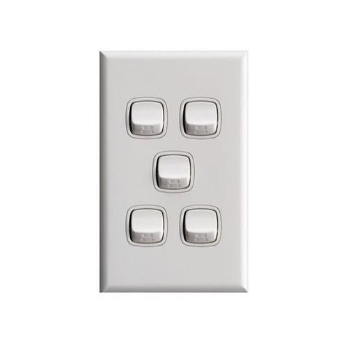 Switch 5 Gang Xl White High Gloss - Hpm