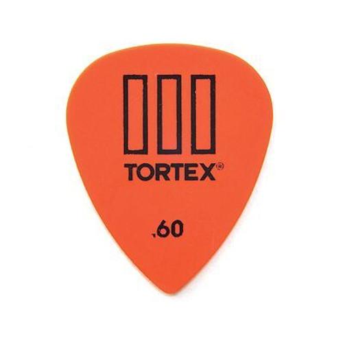 .60 Tortex T3 Pick Orange Sharp Dunlop