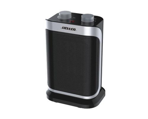 Heller 1500W Black Ceramic Oscillating Fan Heater