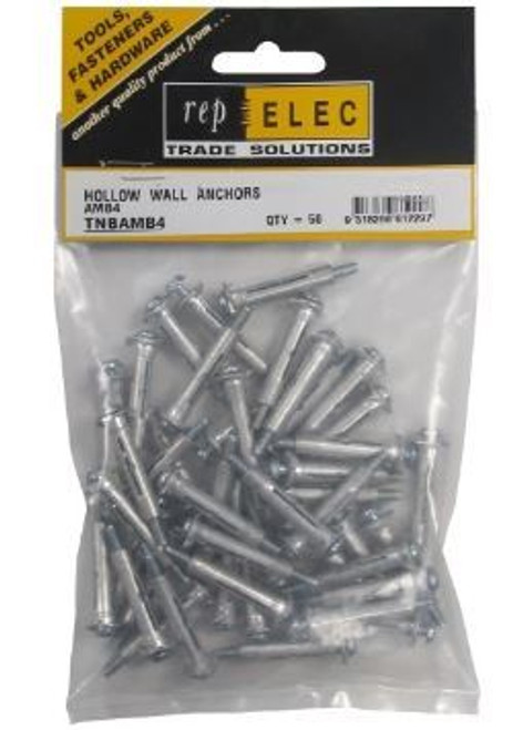4Mm 6-30 Hollow Wall Anchors (Box Of 200)