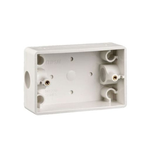 Mounting Box Pvc Rect 2 X 20Mm Entries White - Clipsal (Box Of 10)