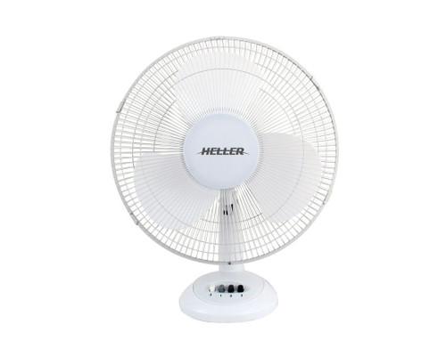 Heller 30Cm White Desk Fan (13401)
