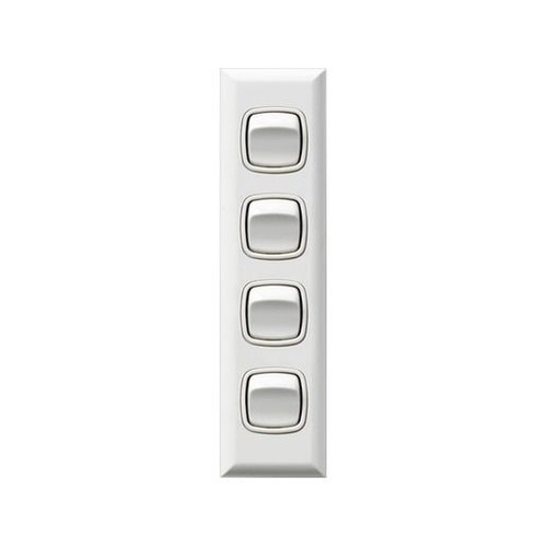 Architrave Switch 4 Gang - Hpm
