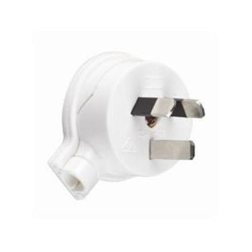 10A White Side Entry Plug