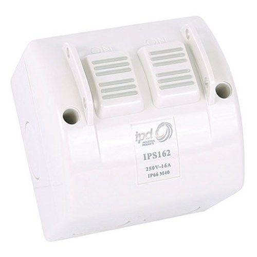 16A 2 Gang Weatherproof Isolator
