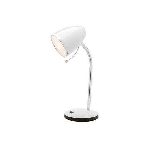 Sara Desk Lamp E27 Wht With Usb Port