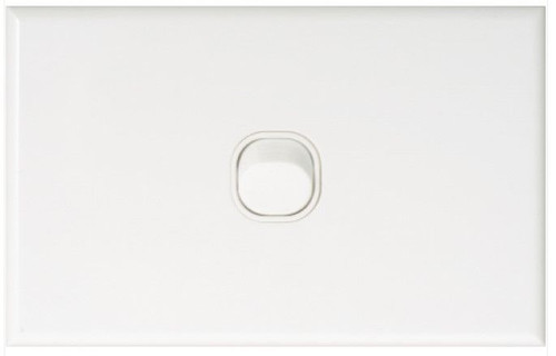 Slim One Gang Plate & Cover Only - Dexton