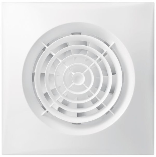 Wall Mounted Exhaust Fan, 100Mm, White, Silent Series