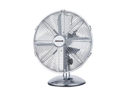 Heller 30Cm Chrome Metal Desk Fan