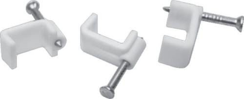 Plastic Cable Clip 9/10Mm White (Box Of 100)