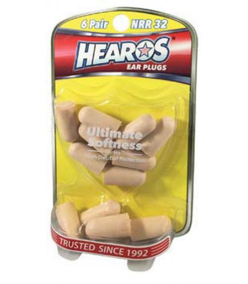 Hearos Ultimate Softness Ear Plugs (6 Pair)