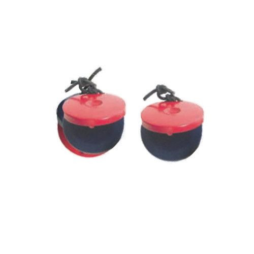 Red and Blue Wooden Castanets