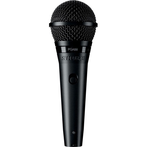 Shure Pga58 Cardioid Dynamic Vocal Microphone With Xlr-Xlr Cable
