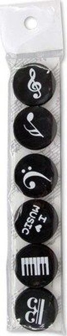 Music Notes Magnets (Pack Of 6)
