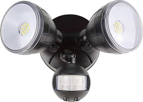 Floodlight Twin Sensor Black - Matrix Innovations