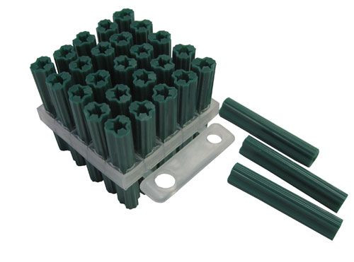 Wall Plugs - 7Mm X 38Mm Green 25 Pack