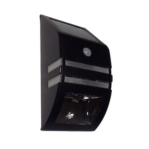 Flush Mount Led Wall Light With Pir Sensor - Black - Sldwl0099A-1W-Pir-Blk-Ww