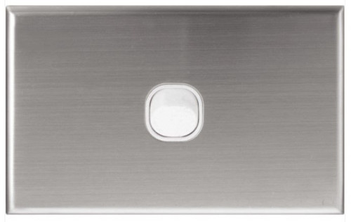 1 Gang Switch Plate Stainless Steel Series - Dexton