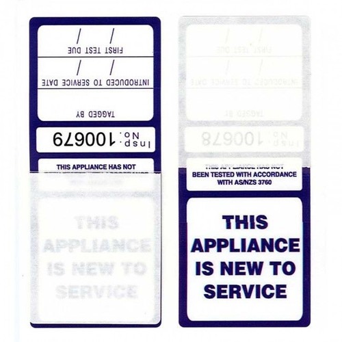 """Self Laminating Tag (Pack Of 100) - """"This Appliance Is New To Service"""""""