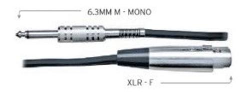 Australasian - 20 Foot Black Speaker Cable 6.3 (M) Jack To Xlr (F)