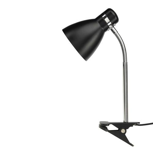 Sammy 1 Light Clamp Lamp Black