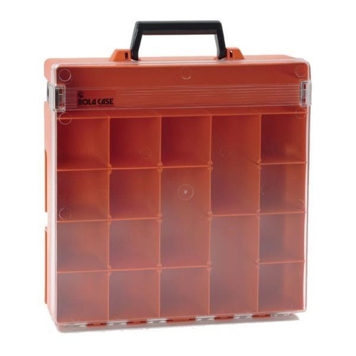 Rolacase With 6 Dividers (Clear Lid) Orange 370X370X85