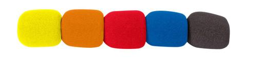 Microphone Shield Coloured 5Pk