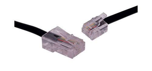 3M Rj45 Plug To Rj14 Plug Black Telephone Cable