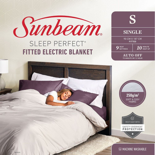 Sleep Perfect Fitted Electric Blanket Single