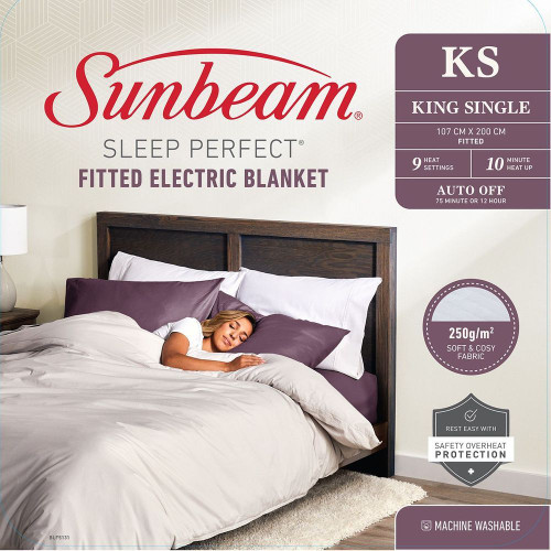 Sleep Perfect Fitted Electric Blanket King Single