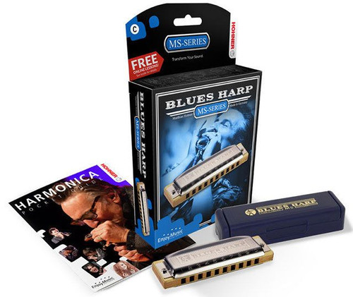 Hohner Ms Series Blues Harp Harmonica In The Key Of F