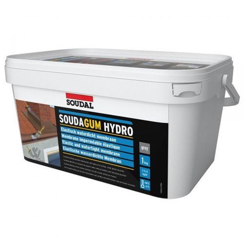 Soudagum Hydro Waterproofing Membrane Coating Solvent-Free Grey 1Kg Repair Kit
