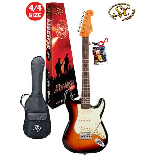 Sx 4/4 Electric Guitar With Gig Bag - 3 Tone Sunburst