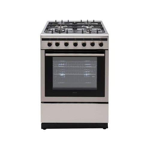 Euro Oven Freestanding 600Mm Dual Fuel Stainless Steel Ev600Dfsx
