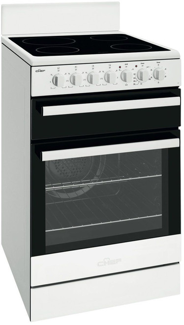 Chef Cfe547Wb 54Cm Freestanding Electric Oven/Stove