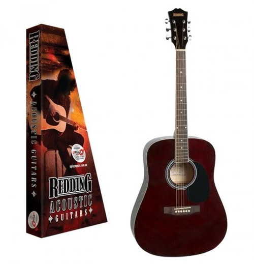 Redding Red50Twr Acoustic Guitar Transparent Wine Red