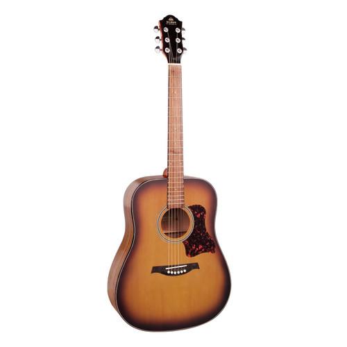 Gilman Dreadnought Acoustic Guitar In Tobacco Sunburst Satin