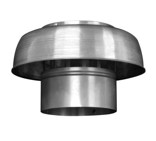 Roof Mushroom Cowl | Aluminium With Mesh Insert | 125Mm