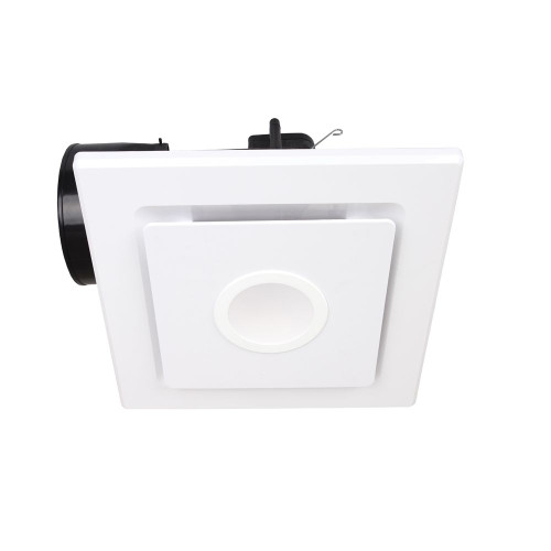 Emeline-Ii Square Exhaust Fan With Led Light Large White