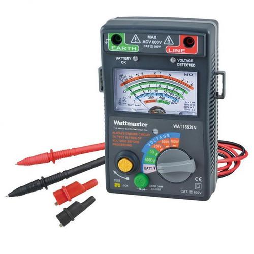 Wattmaster 600V Analogue Insulation Tester Wat1652IN