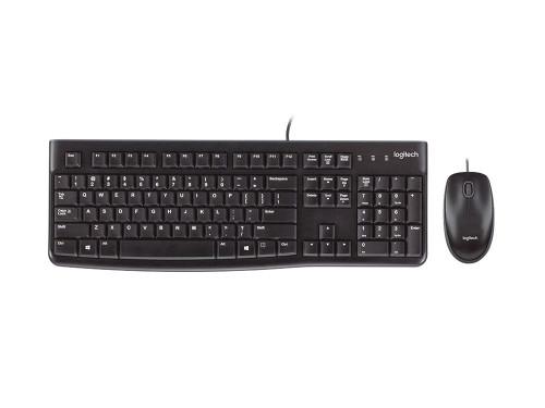 Logitech Wired Keyboard & Mouse Combo, Desktop Mk120, Black, USB