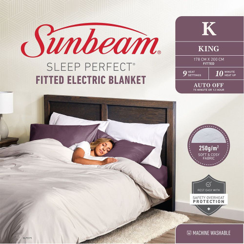 Sleep Perfect Fitted Electric Blanket King