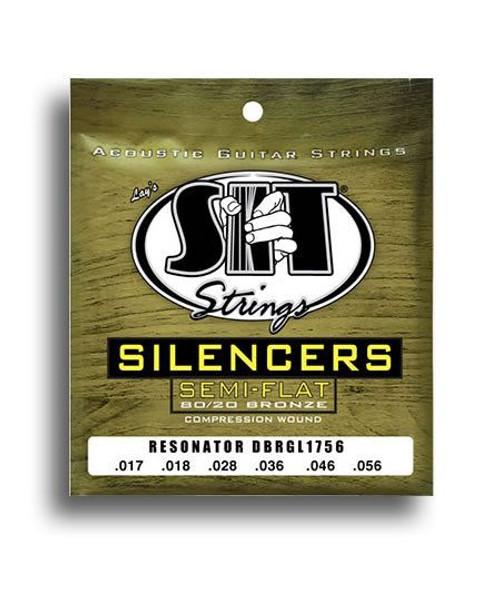 Sit Silencers 80/20 Golden Bronze Resonator String Set (17-56)
