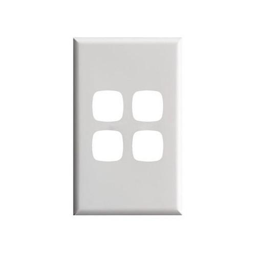 Switch Plate Xl 4 Gang White High Gloss - HPM