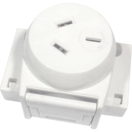 Single Socket Plug Base, Ezyfix 250V 10A (Ea) - Dexton