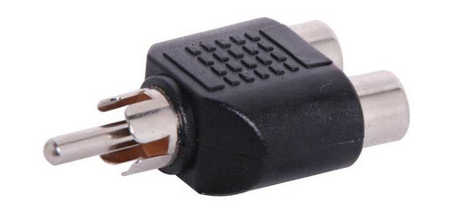 2 RCA Female To RCA Male Adapter