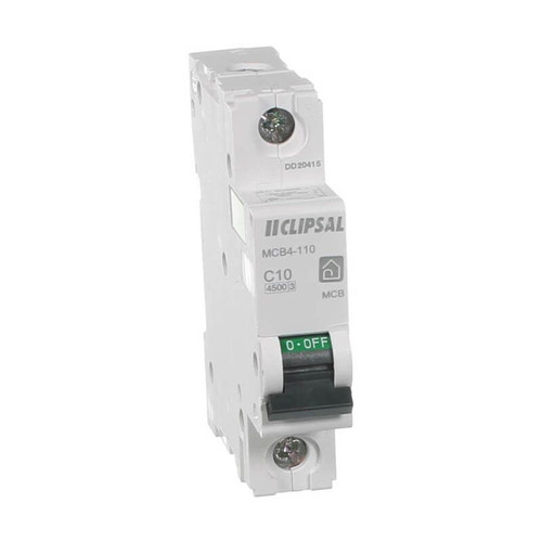 Clipsal Mcb4-110 | 10Amp Single Pole 4.5Ka Circuit Breaker