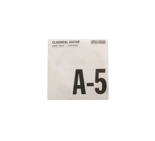 A-5 Silverplated. Plain End. Normal Tension. Dunlop Performance Series Classical Strings (Ea)