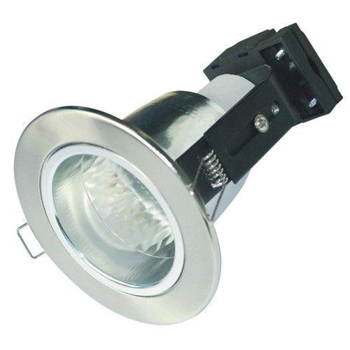 Energy Saving Downlight Fitting In Satin Chrome Vibe Lighting